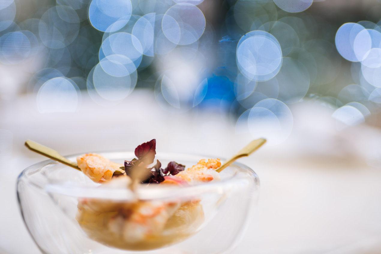 Paris - Visiting Four Seasons George V Hotel - Le George Restaurant - Langoustine rôtie, sauce moutarde de Crémone