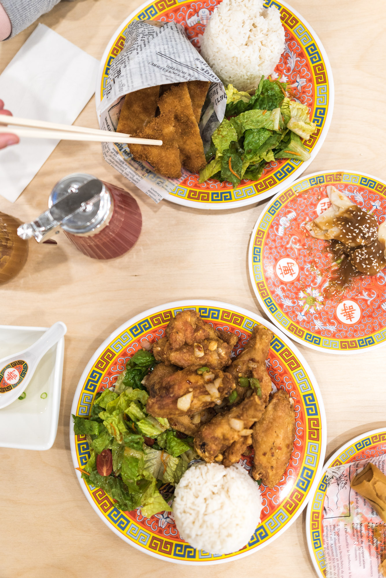 Jeff On The Road - Montreal - Food - Maneki Comptoir Asiat' - Flat Lay Table